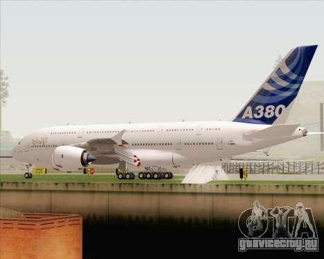 Airbus A380-800 F-WWDD Etihad Titles для GTA San Andreas вид снизу