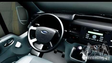 Ford Transit SWB Love Live для GTA San Andreas вид сзади
