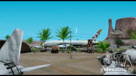 Airbus A380-800 Etihad New Livery для GTA San Andreas вид сзади слева