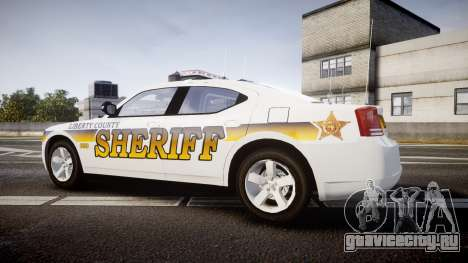 Dodge Charger 2006 Sheriff Liberty [ELS] для GTA 4 вид слева
