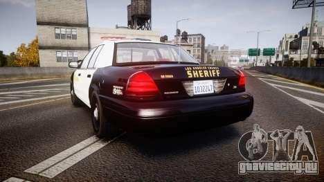 Ford Crown Victoria 2011 LASD [ELS] для GTA 4 вид сзади слева
