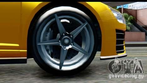 GTA 5 Obey 9F Cabrio IVF для GTA San Andreas вид сзади слева