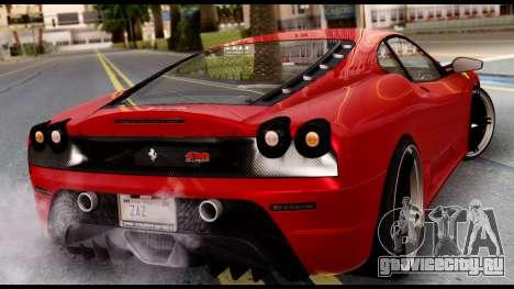 Ferrari F430 Scuderia для GTA San Andreas вид слева