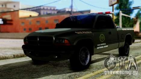 Dodge Dakota National Guard Base Police для GTA San Andreas