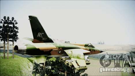 F-105 Thunderchief Polish Glider для GTA San Andreas вид слева