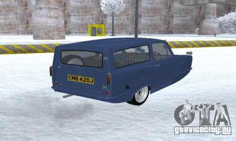 Reliant Supervan III для GTA San Andreas вид сзади