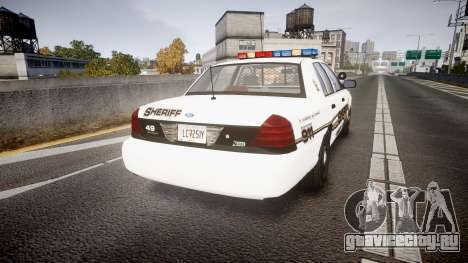 Ford Crown Victoria LCSO [ELS] Edge для GTA 4 вид сзади слева