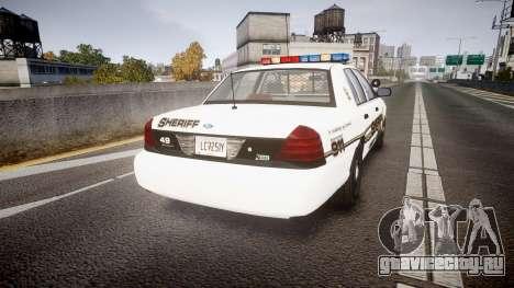 Ford Crown Victoria LCSO [ELS] Edge для GTA 4 вид сзади слева