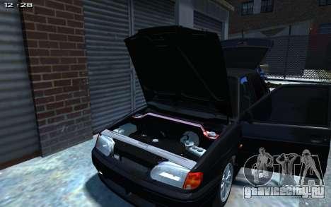 ВАЗ 2114 для GTA 4 вид изнутри