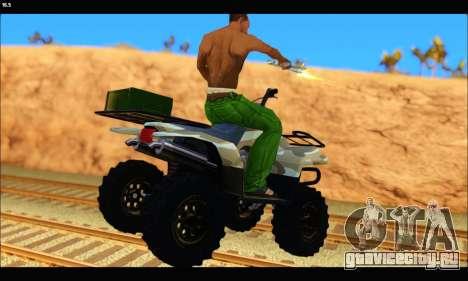 ATV Army Edition v.3 для GTA San Andreas вид сзади слева