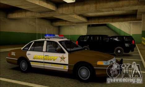 Ford Crown Victoria 1994 Sheriff для GTA San Andreas вид изнутри