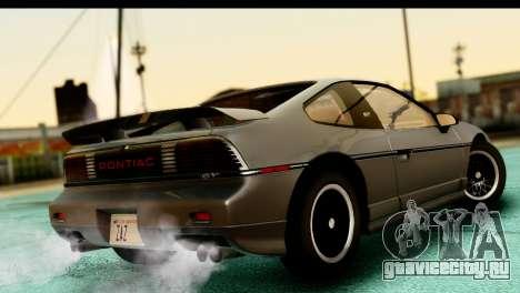 Pontiac Fiero GT G97 1985 HQLM для GTA San Andreas вид слева