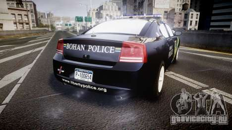 Dodge Charger 2006 Sheriff Bohan [ELS] для GTA 4 вид сзади слева