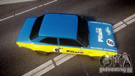 Ford Escort RS1600 PJ6 для GTA 4 вид справа