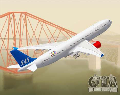 Airbus A330-300 Scandinavian Airlines для GTA San Andreas салон