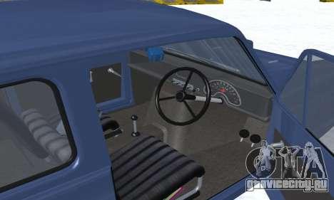 Reliant Supervan III для GTA San Andreas салон