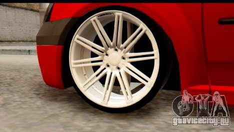 Dacia Logan MXP для GTA San Andreas вид сзади слева