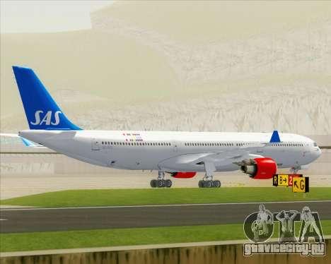 Airbus A330-300 Scandinavian Airlines для GTA San Andreas вид сверху
