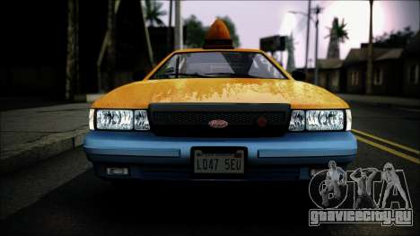Taxi Vapid Stanier II from GTA 4 IVF для GTA San Andreas вид сзади