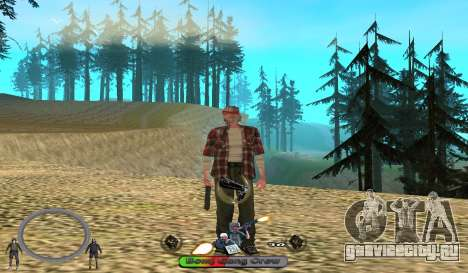 C-HUD BomjGang для GTA San Andreas