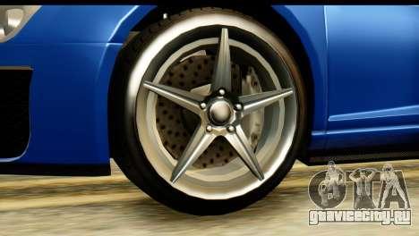 GTA 5 Obey 9F Cabrio для GTA San Andreas вид справа