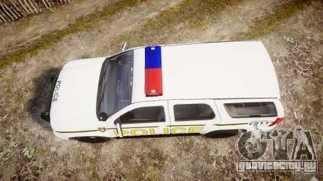 Chevrolet Tahoe 2010 Police Alderney [ELS] для GTA 4 вид справа