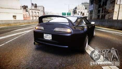Toyota Supra Tuned для GTA 4 вид сзади слева