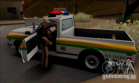 Chevrolet C10 1972 Policia для GTA San Andreas вид сзади