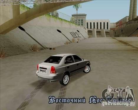 Hyundai Accent 2004 для GTA San Andreas вид сзади