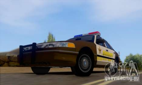 Ford Crown Victoria 1994 Sheriff для GTA San Andreas вид слева
