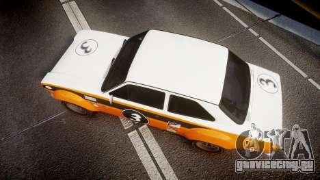 Ford Escort RS1600 PJ3 для GTA 4 вид справа