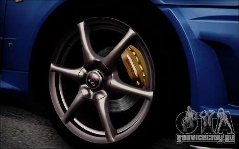 Nissan Skyline GT-R V Spec II 2002 для GTA San Andreas вид сзади