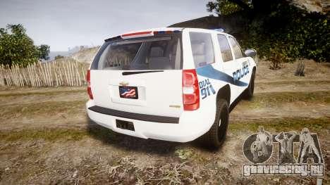 Chevrolet Tahoe 2010 LCPD [ELS] для GTA 4 вид сзади слева