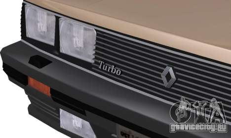 Renault 11 Turbo Phase I 1984 для GTA San Andreas вид сбоку