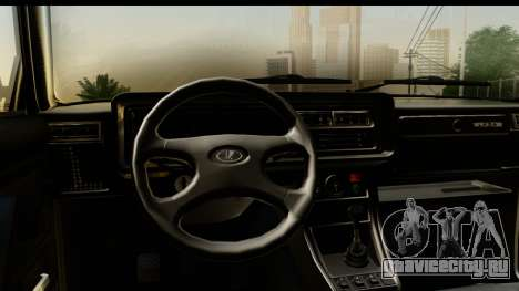 ВАЗ 2107 Сток для GTA San Andreas вид сзади