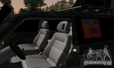 Mitsubishi Pajero Off-Road для GTA San Andreas вид изнутри