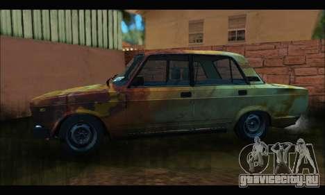 ВАЗ 2107 Rusty для GTA San Andreas вид слева