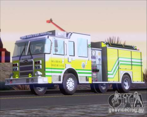 Pierce Arrow XT Miami Dade FD Engine 45 для GTA San Andreas вид сзади слева