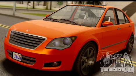 GTA 5 Karin Asterope IVF для GTA San Andreas вид сзади
