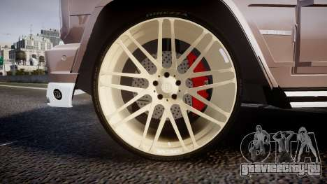 Mercedes-Benz G65 Brabus rims1 для GTA 4 вид сзади