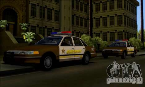 Ford Crown Victoria 1994 Sheriff для GTA San Andreas вид сбоку