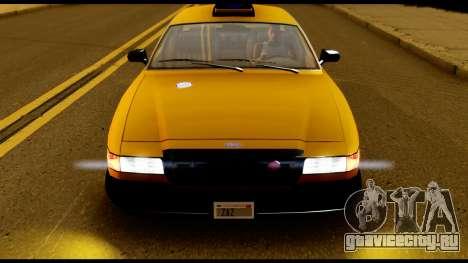 GTA 4 Vapid Stanier Downtown Cab для GTA San Andreas вид справа