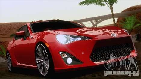 Toyota GT86 (ZN6) 2012 для GTA San Andreas салон