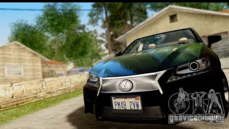 Lexus GS350 Indonesian Police для GTA San Andreas вид сзади