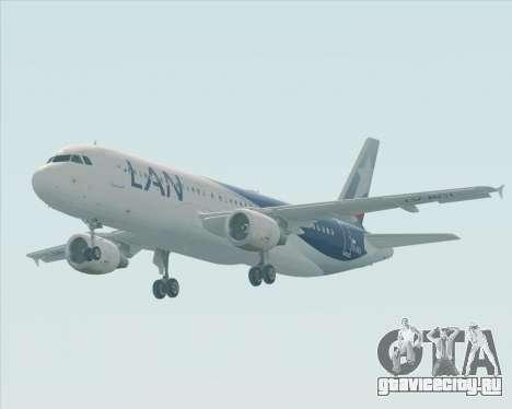 Airbus A320-200 LAN Argentina для GTA San Andreas вид изнутри