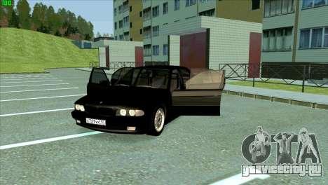 BMW 730i для GTA San Andreas вид снизу