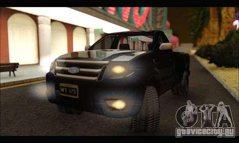 Ford Ranger Cabina Simple 2013 для GTA San Andreas вид справа