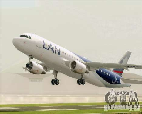 Airbus A320-200 LAN Argentina для GTA San Andreas вид сбоку
