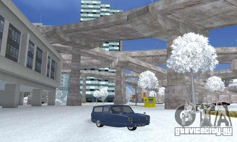 Reliant Supervan III для GTA San Andreas вид сзади слева