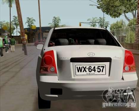Hyundai Accent 2004 для GTA San Andreas вид сзади слева